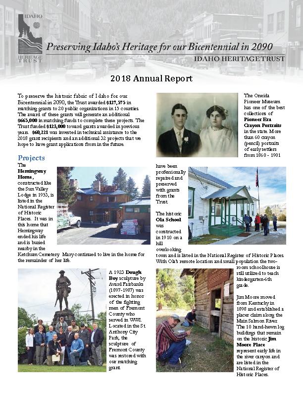 IHT 2018 Annual Report